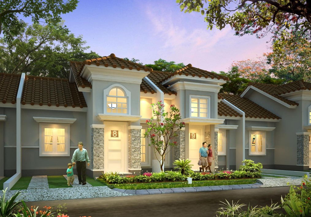 rumah ready stock design minimalis dan classic contemporer